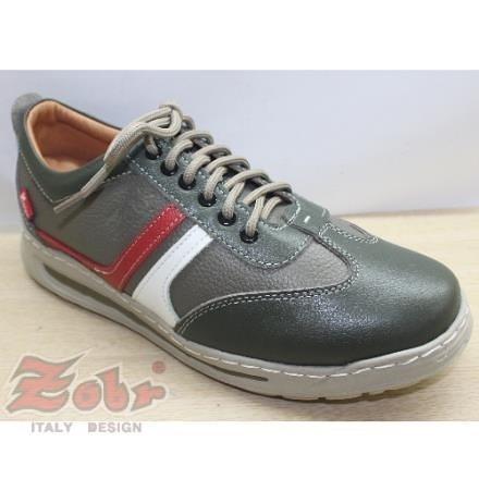 【南紡購物中心】ZOBR路豹 紳士真皮雙彈力氣墊休閒鞋綠款 U256
