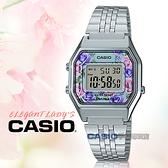 CASIO 卡西歐手錶專賣店   LA680WA-2C 電子女錶 不鏽鋼錶帶 玫瑰花圖樣 防水 碼錶功能 LA680WA