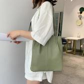 水桶包大容量包包女包新款簡約pu軟皮側背大包手提包女士包袋水桶包 愛丫愛丫