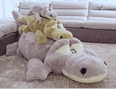 1.5M毛絨玩具鱷魚娃娃公仔可愛玩偶陪你睡覺抱枕長條枕女孩生日禮物QM 向日葵