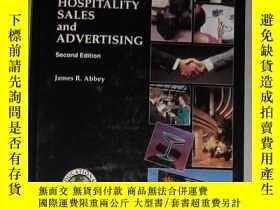 二手書博民逛書店原版罕見Hospitality Sales and Advert