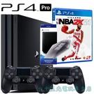 NBA雙人同樂組【PS4主機】PS4 7218B PRO 雙手把組+NBA 2K21+原廠直立架【台中星光電玩】