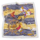 TRUSSARDI 海洋風情純棉帕巾(黃)989045-22