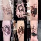 紋身貼暗黑系美少女戰士ins風卡通防水女...
