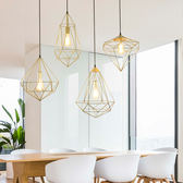 鑽石吊燈工業風創意個性復古鐵藝藝術小掉燈前台吧台北歐loft餐廳 igo 城市玩家