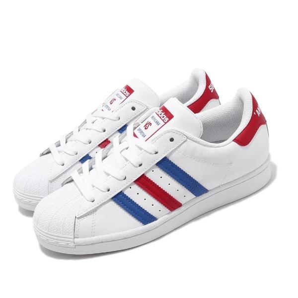 【六折特賣】adidas 休閒鞋 Superstar 白 藍 紅 男鞋 女鞋 運動鞋 美國 AMERICANA 【ACS】 FV2806