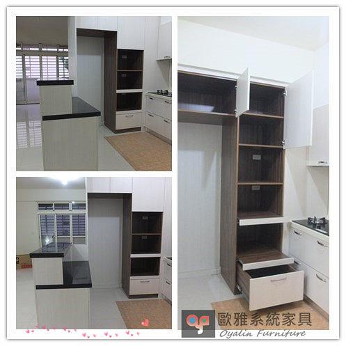 【歐雅 系統家具 】廚具餐邊電器櫃