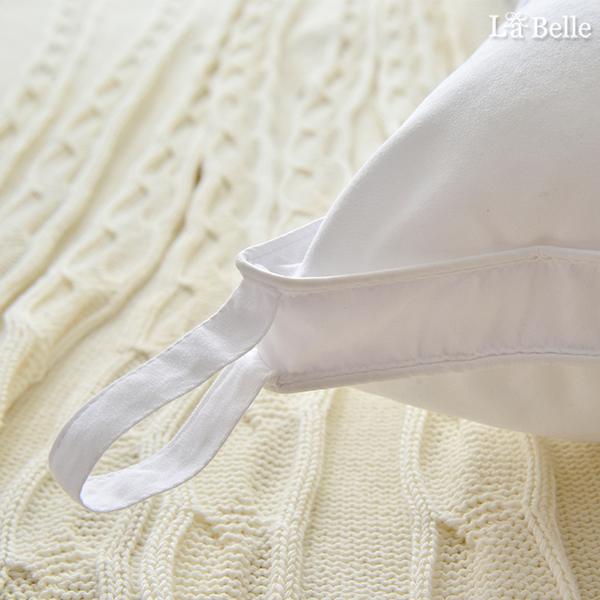 義大利La Belle《立體車邊抑菌可水洗羽絲絨枕》二入