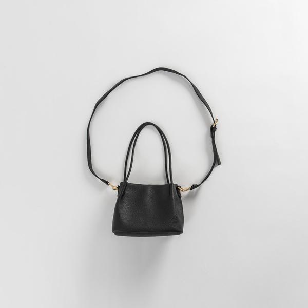 Queen Shop【06020125】基本素色荔枝皮革兩揹式小包 兩色售*現+預*