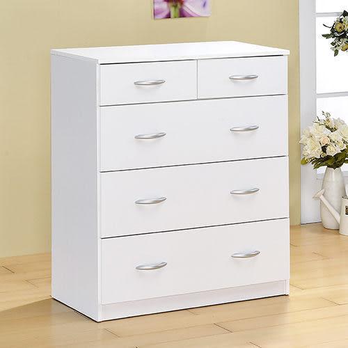 《百嘉美2》H-時尚白五抽斗櫃/ 收納櫃 置物櫃 衣櫃 衣櫥