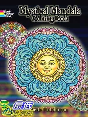 [104美國直購] 2015 美國暢銷書排行榜 Mystical Mandala Coloring Book