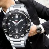 【限時特殺】SEIKO 世界第一日本精工  Sports 精工五號 衝鋒戰將機械鋼帶腕錶/黑x銀 SRPB81K1_M