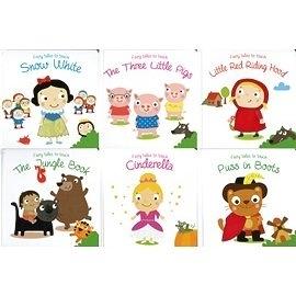 【幼兒觸摸書之童話故事系列】snow white. little pigs. little red riding hood .cinderella ...共六款可任選