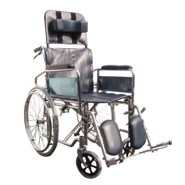 【醫康生活家】杏華 鐵製躺式輪椅-拆手(雙煞)