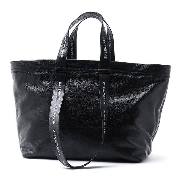 ■專櫃66折■全新真品■Balenciaga 457627 Carry Shopper 小羊皮購物袋 黑色 ( Ikea 致敬款 )