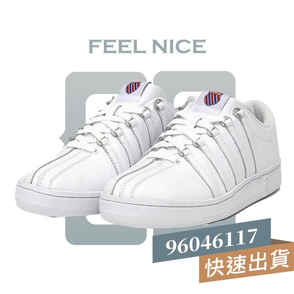 K-SWISS CLASSIC 88 HERITAGE 全白 女 皮革 基本款 穿搭 運動 休閒鞋 96046117
