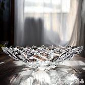 水晶玻璃加厚果盤果斗茶幾果盤家居店用水晶質感果斗透明度好   橙子精品