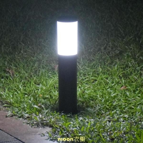 草坪燈不銹鋼圓柱園林裝飾景觀戶外防水庭院別墅公園草地照明路燈 [快速出貨]