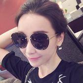 韓版偏光太陽鏡圓臉復古墨鏡