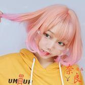 二次元cos動漫短髮假髮女新款減齡日系洛麗塔【奈良優品】