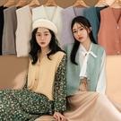 MIUSTAR 熱銷新增色!排釦V領混羊絨針織背心(共9色)【NH2322】預購