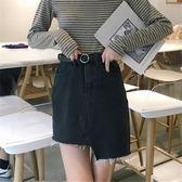 85折2018CHIC港味半身裙女韓版不規則牛仔短裙開學季