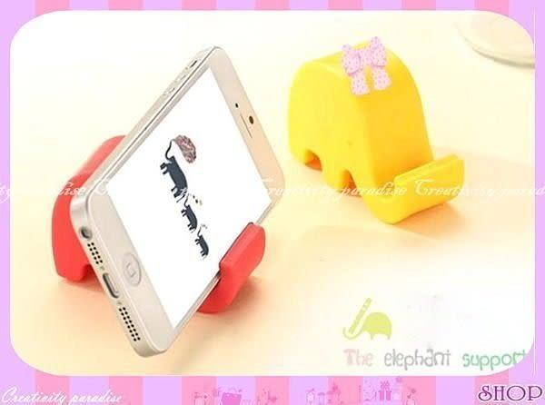 【大象手機架】糖果色動物造型手機座平板支架小象名片座