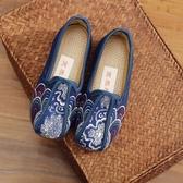 傳統老北京男童透氣布鞋寶寶鞋布刺繡花鞋祥云復古牛筋底表演出鞋 超值價