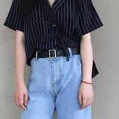 腰帶女士皮帶休閒百搭正韓腰帶女款裝飾簡約時尚針扣褲帶學生復古方扣