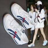 帆布鞋女 小白鞋女夏2021年新款百搭帆布鞋透氣女鞋夏季板鞋薄款爆款潮鞋子【快速出貨】
