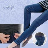 *孕味十足。孕婦裝*【CJE256088】背後排列縫線星星孕婦牛仔長褲(腰圍可調) 藍色
