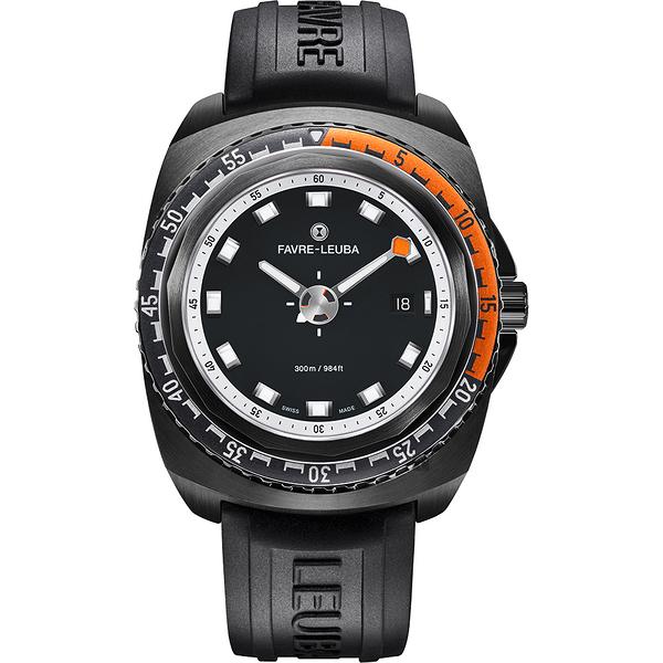 FAVRE-LEUBA 域峰 RAIDER Deep Blue 300米潛水機械錶-黑/44mm 00.10102.09.13.31