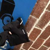 kn駐顏站東大門款簡約字母帆布手包超大化妝包百搭款 芥末原創
