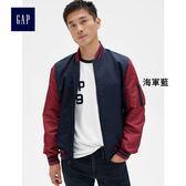 Gap男裝 時尚簡約立領長袖休閒夾克 356195-海軍藍