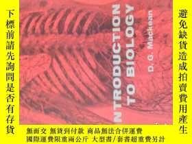 二手書博民逛書店生物學導論罕見Introduction to Biology(英