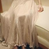 飄飄仙閃閃光澤仙女飄逸半身裙長裙輕紗裙