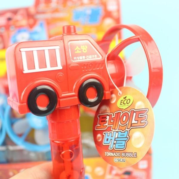 汽車.消防車風扇泡泡棒 手搖式風扇+泡泡水/一個入{促80} 環保電風扇-CF129036