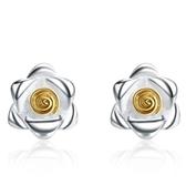 925純銀耳環(耳針式)-大方優雅質感生日情人節禮物女飾品73al37【巴黎精品】