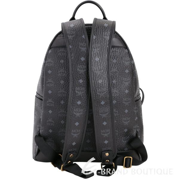 MCM DUAL STARK 品牌圖騰設計兩用後背包(中/黑色) 1720016-01