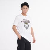 NIKE 短T DRI-FIT LEBORN 白 獅子LOGO 短袖 運動 休閒 短TEE 男(布魯克林) CD1321-100
