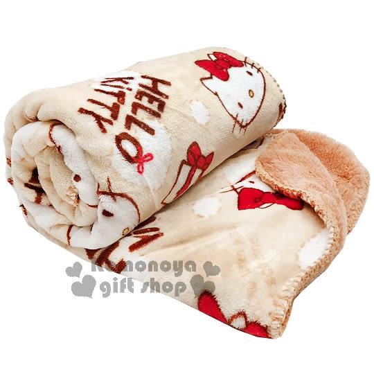 熱銷破千條 // Hello Kitty 法蘭絨毛毯《米棕》披肩毯.單人毯.70x120cm 4713077-26155