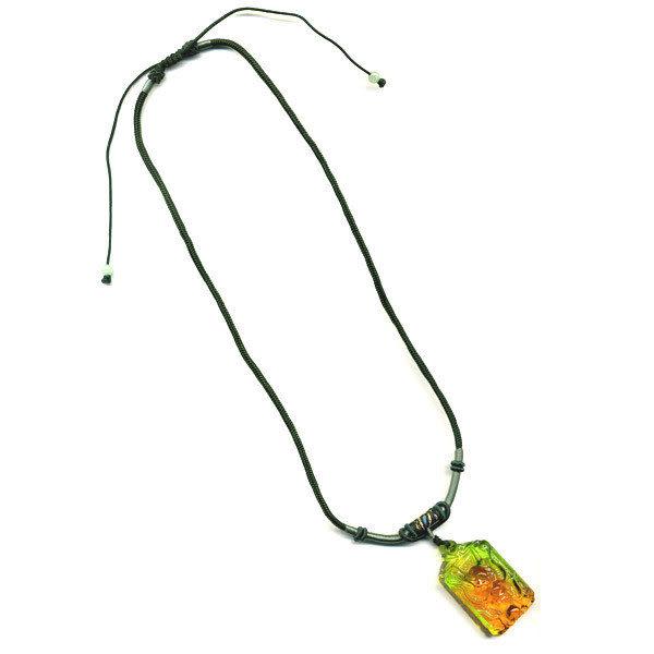 鹿港窯~居家開運水晶琉璃項鍊~龍頭 附精美包裝 ◆免運費送到家◆