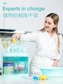 嬰兒奶瓶收納箱收納盒帶蓋防塵寶寶奶瓶奶粉收納箱晾干架瀝水架