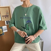 2020夏季男士純棉短袖t恤港風ins寬鬆學生潮流半袖體恤男衣服 陽光好物