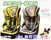 麗嬰兒童玩具館~納尼亞Nania法國原裝3-7歲汽車安全座椅-卡通動物版成長汽車安全座椅