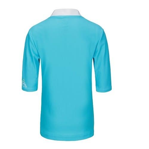 兒童泳衣 防曬短袖上衣夾克 ★最新藍寶石條紋系列★ 澳洲鴨嘴獸 UPF 50+ 抗UV (小女4-8歲)