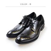 Waltz-沖孔雕花式紳士鞋 212188-02黑