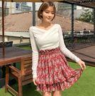 Qmigirl 夏季韓版Korea高腰迷你顯瘦蛋糕短裙【T1653】