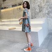 寬松旗袍新式夏季時尚改良版年輕款少女中國風微胖連衣裙學生短款 好樂匯