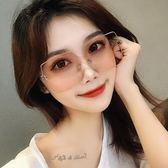 2019新款太陽鏡女士潮人街拍復古黑墨鏡大框方形彩色防紫外線眼鏡 宜品